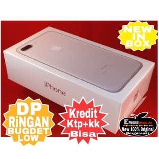 Kredit Low Dp 3jt iphone 7 plus 128gb silver New-ditoko ktp+kk Call/wa;081905288895