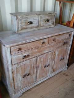 Oakville Shabby Chic Buffet Dining Room Storage Vintage Rustic Solid Wood white