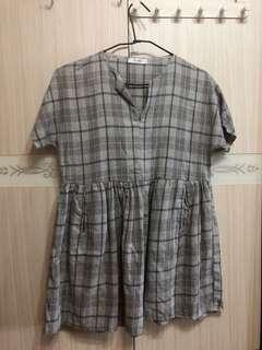 🚚 格紋連身裙
