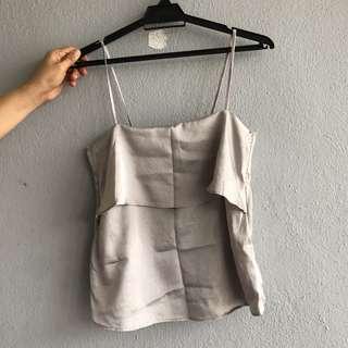 H&M Silver Top