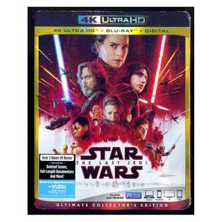Star Wars The Last Jedi - New Blu-Ray 4K
