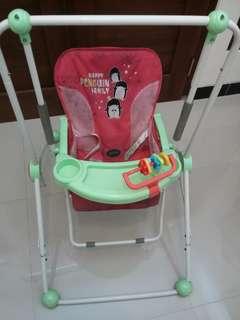 Ayunan Bayi Pliko Swing Warna Merah Bekas (Second)