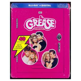 Grease - 40th Anniversary Collection - New Blu-Ray Steelbook