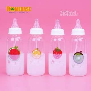 HOMEbase Korea creative design pacifier bottle,leak proof, multipurpose eco glass(350ml ) YL-360A