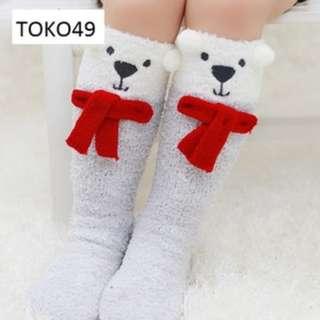 Kaos kaki panjang bulu anak balita cewe beruang rusa lucu murah ACA017