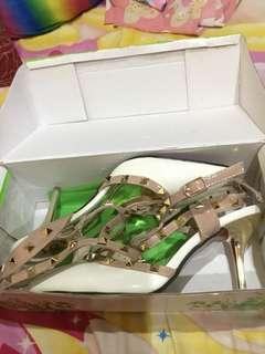 White Valentino inspired Heels