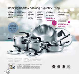 Tupperware Inspire Cookware Collection (0% instalment)