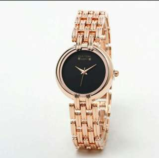 New York Army Black Dial Rosegold Watch