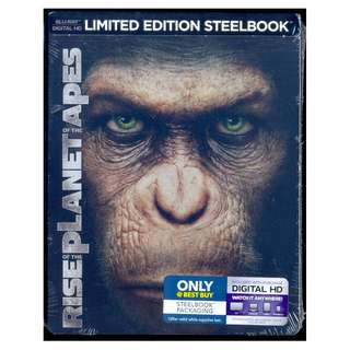 Rise Of The Planet Of The Apes - New Blu-Ray Steelbook