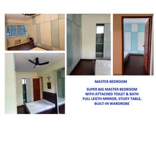 VERY SPACIOUS MASTER BEDROOM (EXECUTIVE HDB) - PASIR RIS BLK 460 ((WITH FRIENDLY PINOY HOUSEMATES))