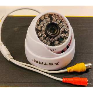 CCTV Dome Camera White with warranty 3.6mm High Resolution 480-lines Intra-Red
