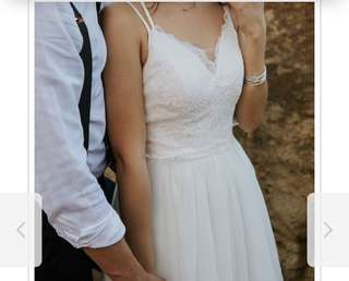 Elegant white lacey maxi dress for ROM or photoshooting or any occasion!