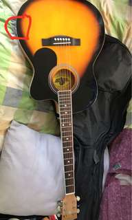 Lyon by Washburn acoustic electric guitar slim type