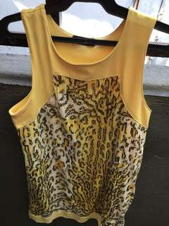 Yellow sequined dress