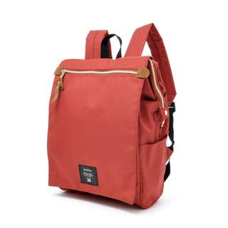 (READY STOCK) Anello Front Flap Polyester Backpack (AT-B1224-Dark Orange)
