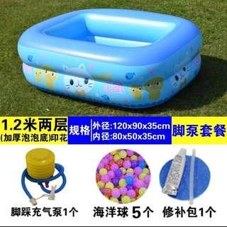 New! Inflatable Kids Swimming Pool/ Ball Pit/ Bathtub