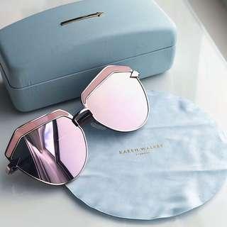 KAREN WALKER Jacinto Cat-Eye Acetate & Gold-Tone Sunglasses