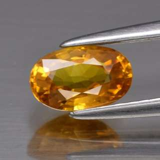 Natural Yellow Sapphire 0.98ct 7x4.3mm Oval, Thailand