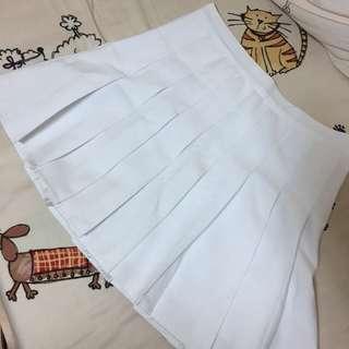 🚚 純白百摺褲裙