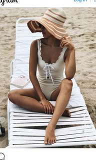 brand new Marysia White Lace Up swimsuits