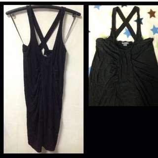 Armani Exchange cross back dress