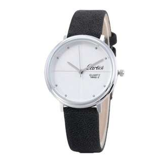 White Dial Cartisi Leather Watch