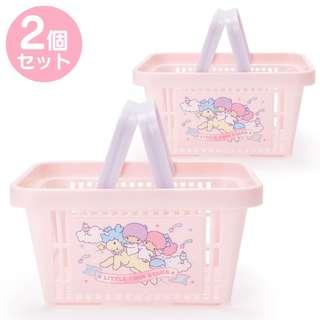 Japan Sanrio Little Twin Stars Mini Basket 2 Pieces