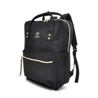 (READY STOCK) Anello Square Rucksack Backpack (AT-C1221-BLACK)