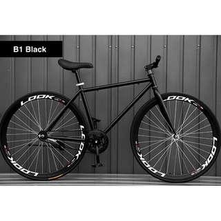 "*INSTOCKS* 26"" Black Frame And Black Rim Fixie With Black Tyre Coaster Brakes New"