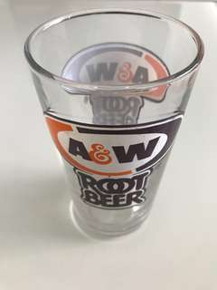 A&W Root Beer drinking glass