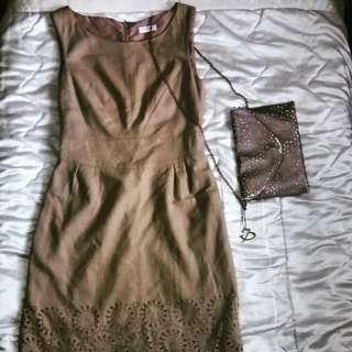 Orsay beige dress