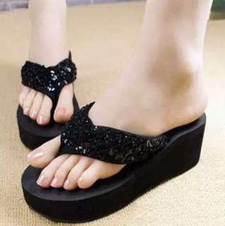 Sandal Wedges Jepit Spons
