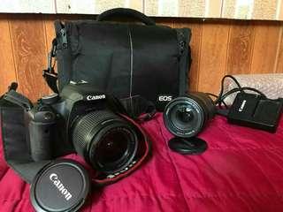 DSLR Canon EOS 500D Camera Set consists of 2 lens
