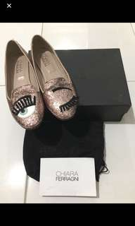 Authentic chiara ferragni flat shoes 38