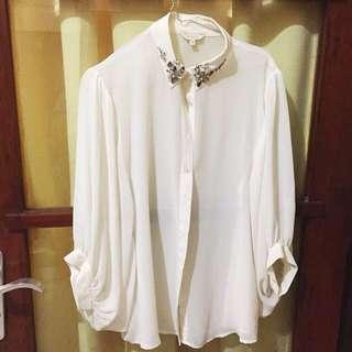 Et Cetera beads blouse