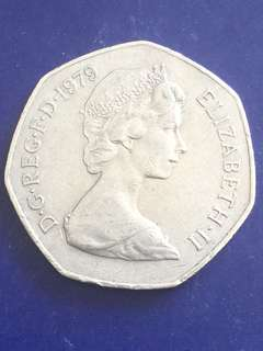UK 50 Pence 1979, Vf