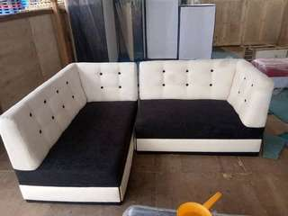 SOFA SETS with free 2 pillows and footstool