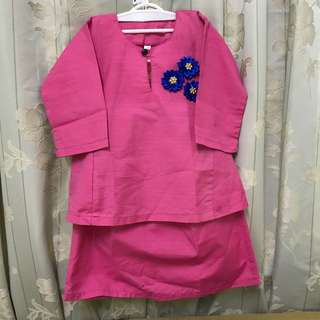 Baju Kurung Kids 1-2 years