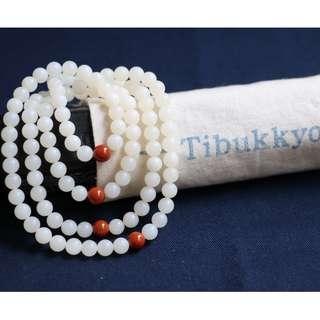 🚚 Tibukkyo德榕藏品 水透級全玉化硨磲 6mm圓珠 108顆 台北穿搭飾品手創 佛教七寶 藏傳佛教 珠寶設計 母親節