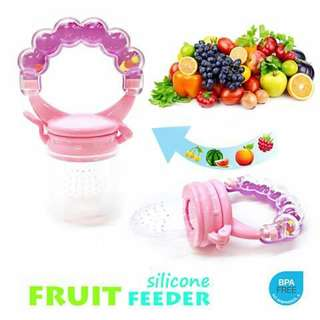 Fruit Feeder with Rattle - PINK