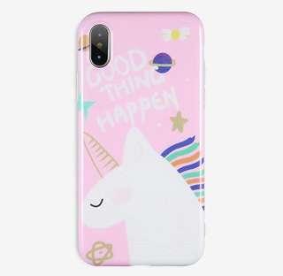 White Unicorn Phone Cases