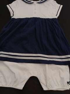 Baju navy blue baby dari UK