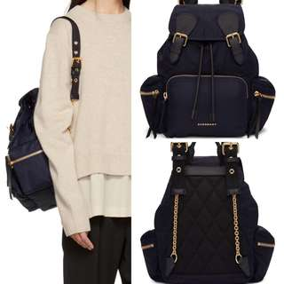 🎁超HOT 款Burberry BACKPACK仔代訂 🎁MEDIUM SIZE NAVY