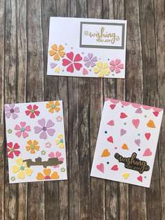 3 cards - floral