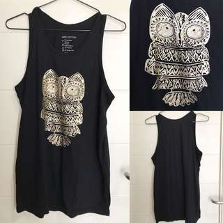 Black Owl Top