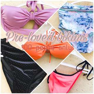 See my profile for preloved bikinis‼️