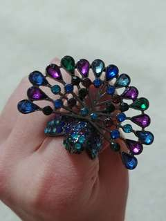 Vintage peacock ring