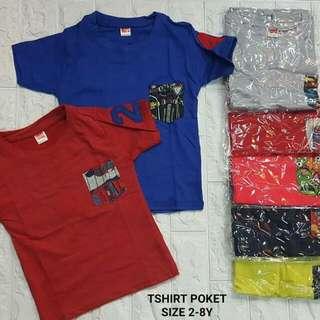 Tshirt pocket (2-8tahun)