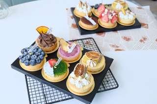 Fruit tart/ chiffon sandwich/ madelines
