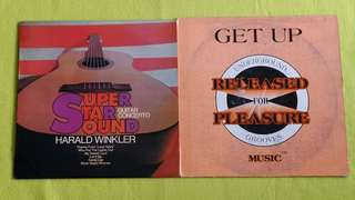 HOUSE OF SOUND ● HARALD WINKLER AND THE NORMAN CANDLER ORCHESTRA .  get up / super star sound guitar concerto. ( buy 1 get 1 free )  vinyl record